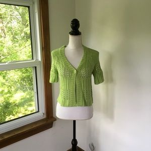 Light Green Cardigan Dressbarn Size Small NWOT